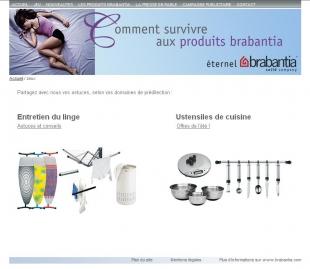 Site promotionnel pour une marque d'articles ménagers Brabantia
