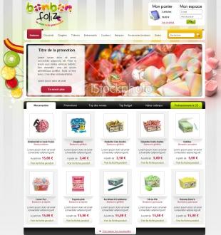 Site e-commerce de bonbons et chocolats Bonbon-Foliz