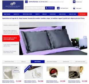 Site e-commerce de linge de maison Boutique du Blanc