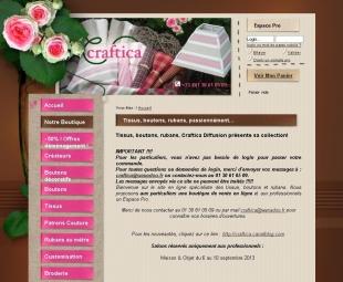 Site de vente en ligne de modèles de broderie Craftica