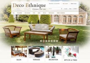 Site E-commerce de produits de décoration