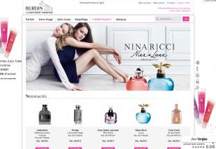 Création et refonte de boutique en ligne Parfumerie Burdin