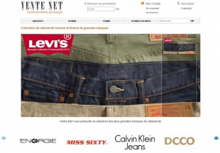 Créer un site e-commerce sur mesure de vêtements de marque Vente-Net