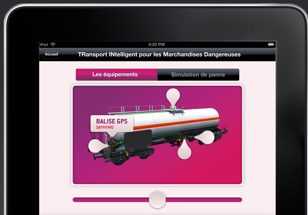 Application iPad SNCF