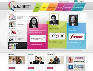Site de communication institutionnelle de l'école des métiers de l'internet EEMI
