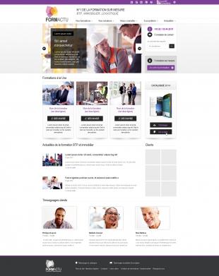Site de présentation et prospection pour de la formation professionnelle