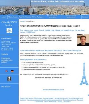 Site vitrine pour un notaire parisien Altmann