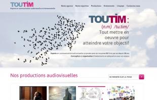 Site institutionnel de présentation de la société de production Toutim