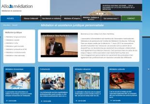 Site vitrine pour la médiation et assistance juridique