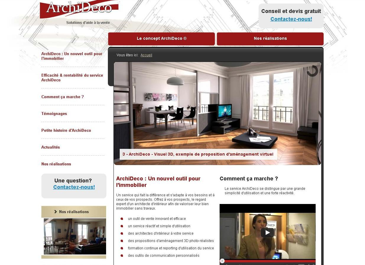 Exemple Devis Home Staging site vitrine packagé