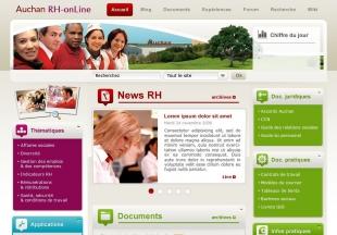 Intranet des ressources humaines d' Auchan France