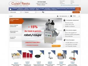 Refonte site e-commerce d'ustensiles de cuisine Cuisin-resto