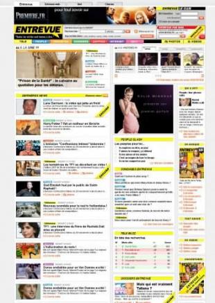 Création d'un magazine en ligne People Entrevue