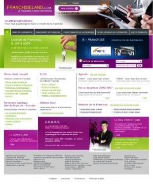 Réalisation d'un site web de conseils sur les franchises
