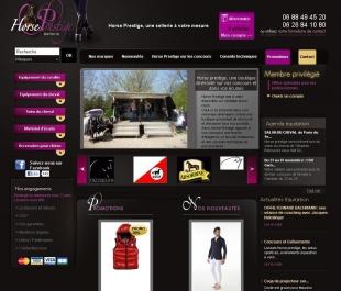 Développement du site de vente en ligne Horse Prestige