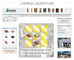 Opération marketing avec jeu concours Lafarge Couverture