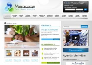 Site communautaire dans le domaine du bien-être Mesacosan