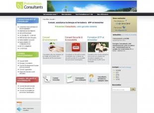 Site de prospection pour le btp et l'immobilier Prévention Consultants
