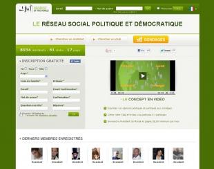 Créer un réseau social politique et démocratique Resident of the World
