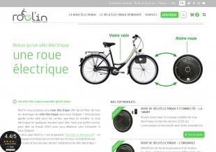 Refonte d'un site de vente de roue de vélo électrique Rool'in