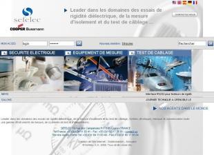 Site industriel de matériel électronique BtoB Sefelec