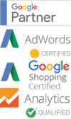 Google partner, Google adwords certification, Google Analytics certification, Google Shopping certification